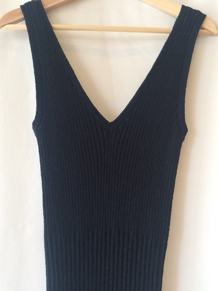 James Perse black knit dress