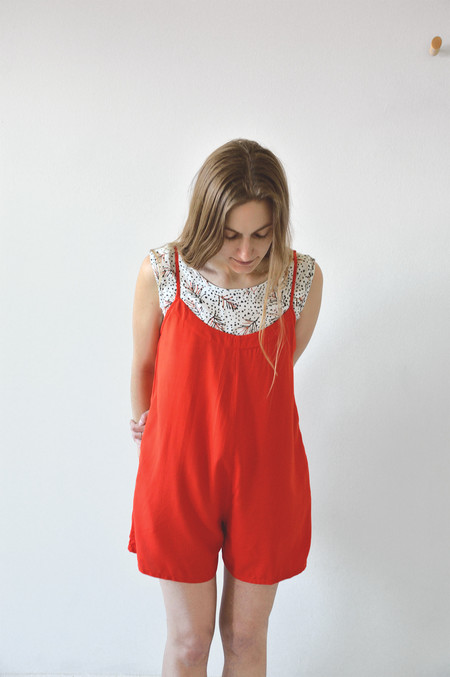 Ali Golden Romper in Poppy