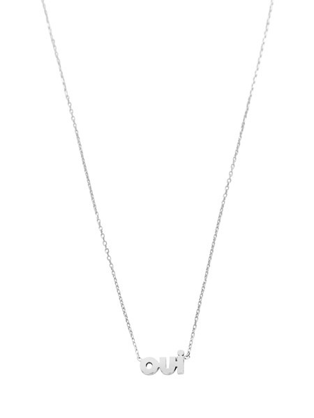 IGWT OUI Necklace - Silver