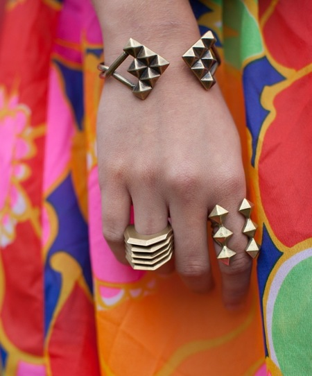 Nettie Kent Jewelry Theia Stack Rings - Brass
