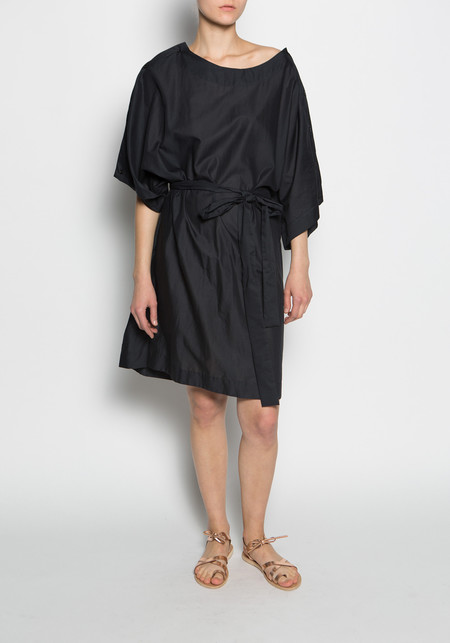 KES Button Up Sleeves Dress