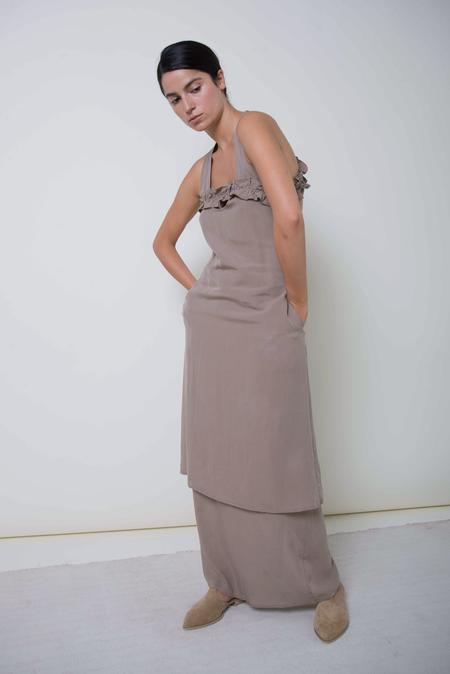 Ajaie Alaie Half Moon Dress - Denim