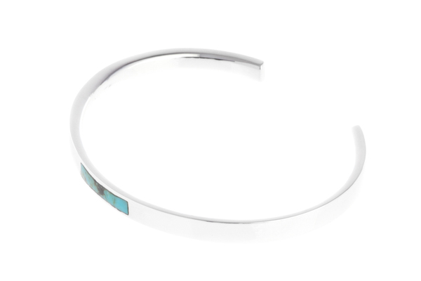 Shahla Karimi Bar Cuff with Turquoise