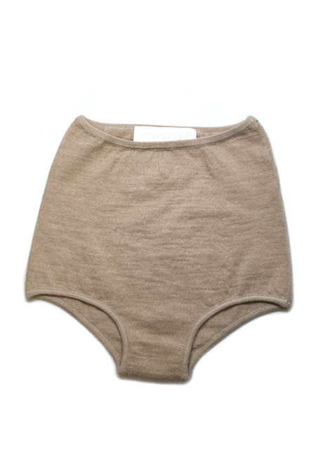 HESPERIOS Alpaca/Silk High Waisted Undies - Natural