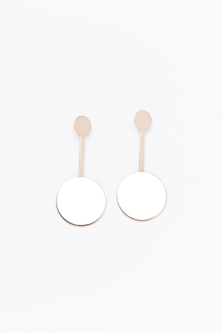FARIS Double dot drop earrings