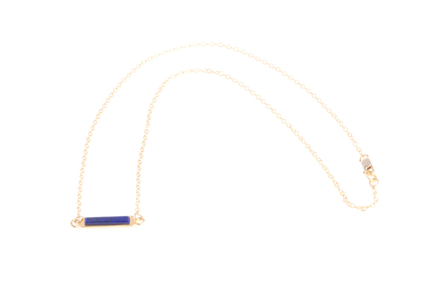 Shahla Karimi Bar Necklace with Lapis