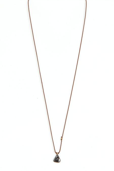 Margaret Solow Black Diamond Slice Necklace
