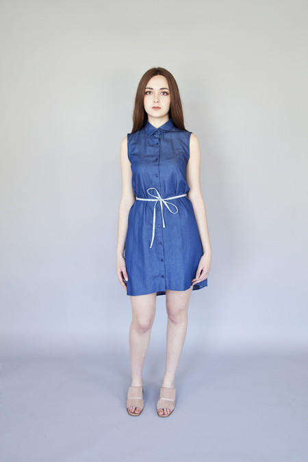 Meemoza – Alexa Dress Blue Tencel