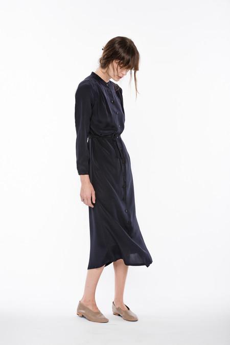 Wolcott : Takemoto Silk Vashon Dress in Navy