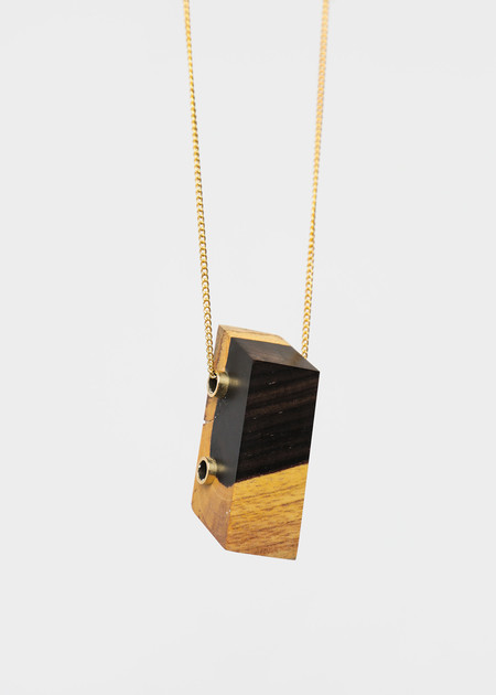 Stable State Ebony Maderite Wood Necklace
