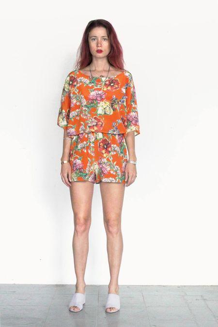 Strathcona Orange Bouquet Silk Short
