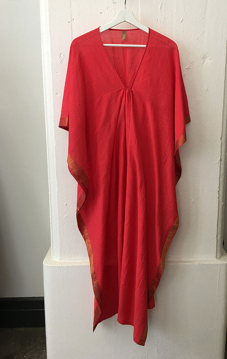Two Poppy red caftan