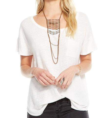 Chaser LA Linen Drop Shoulder T-shirt