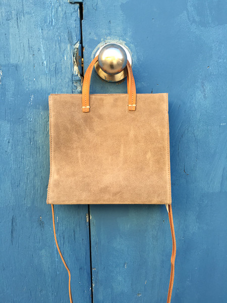 Clare V. petit simple tote suede