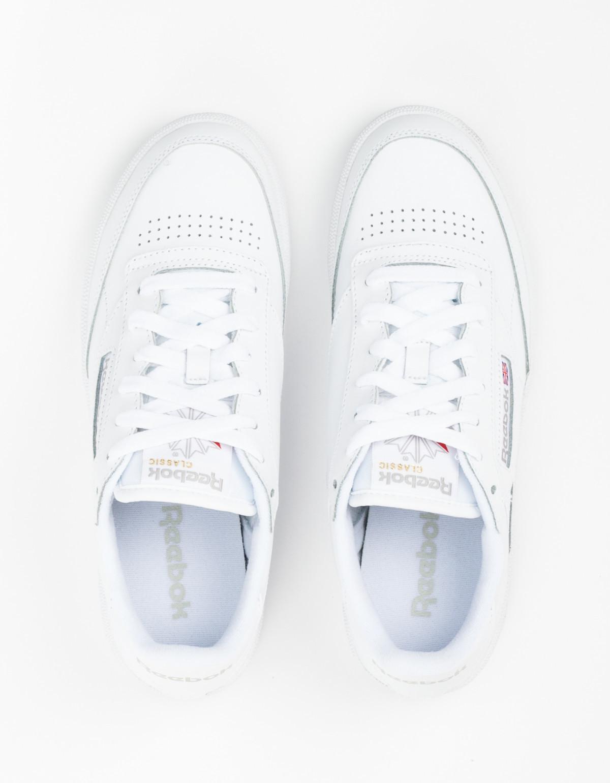 4d5d6dbd5b7 Reebok Club C 85 Sneakers - White Light Grey