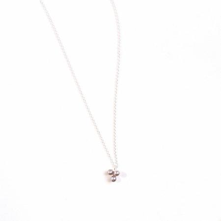 Margaret Lim pearl trio stone necklace