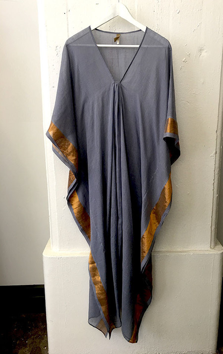 Two grey caftan with bronze border