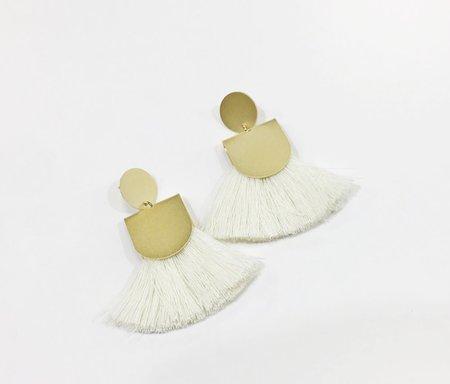 Baleen Pinna Earrings - Cream