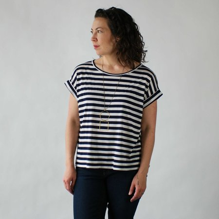 UNA Devon Top in Stripes