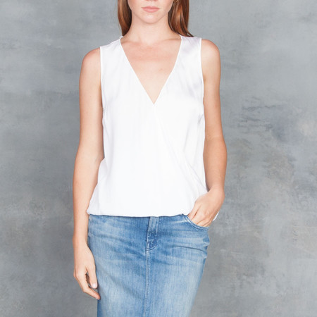 GOSILK Go Surplus Top in White