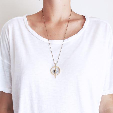 Metalepsis Disc Pendant Necklace