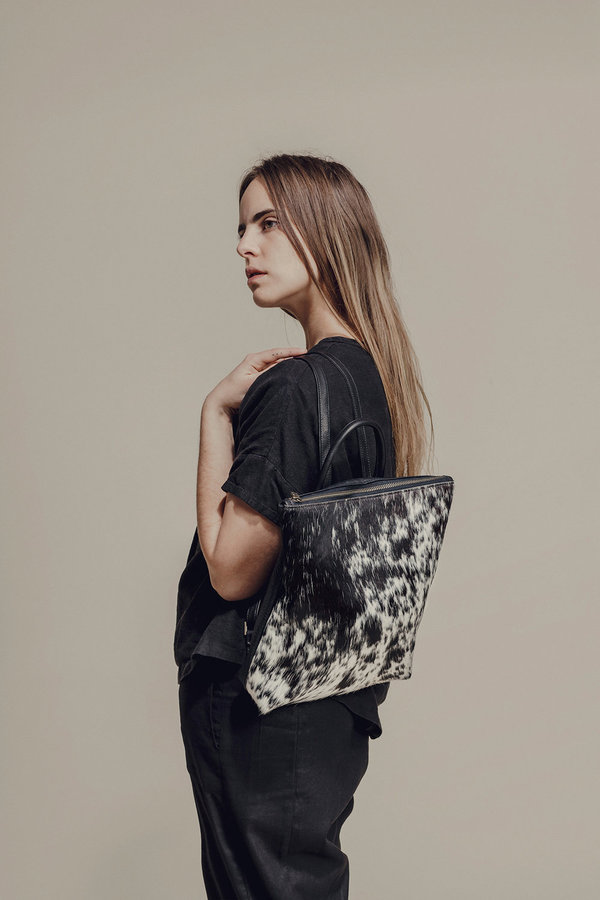 Primecut SPOTTED COWHIDE BACKPACK