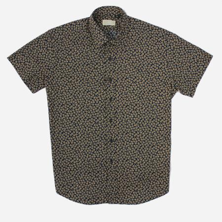 Kovalum Angle Short Sleeve Shirt - Dark Navy Floral Print