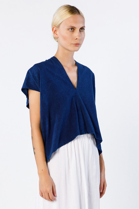 Miranda Bennett Ed. VIII Everyday Top, Silk Noil in Dark Indigo