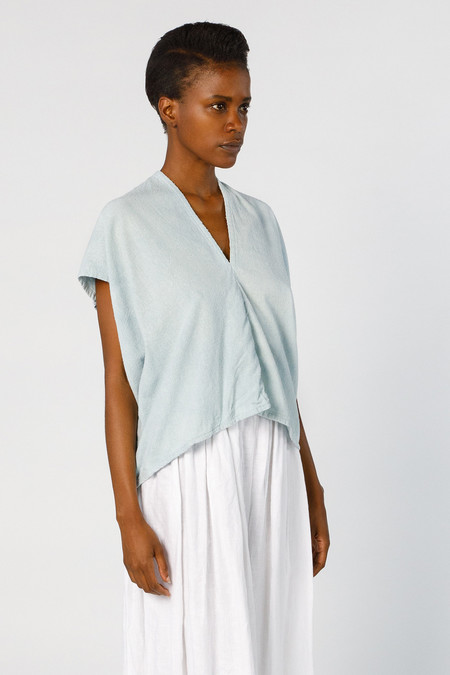 Miranda Bennett Ed. VIII Everyday Top, Silk Noil in Light Indigo