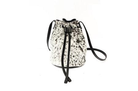 Primecut SALT + PEPPER COWHIDE BUCKET BAG