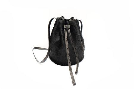 Primecut BLACK COWHIDE BUCKET BAG