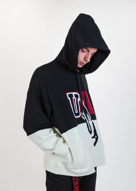 Doublet Black Drop Patch Embroidery Hoodie