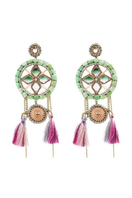 Deepa Gurnani Latika Earrings - Mint