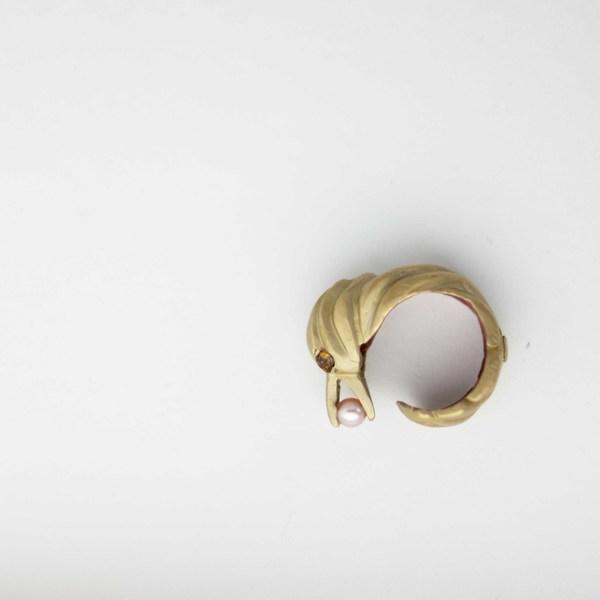 Natalie Frigo Bird With Treasure Ring