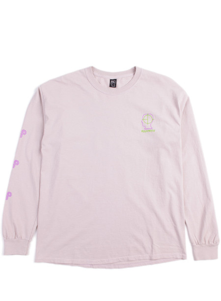 Brain Dead 2up Psycho Primitive LS Tee Dusty Pink