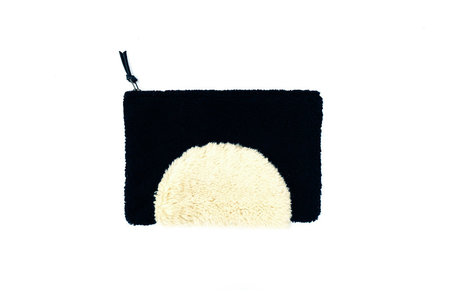 PRIMECUT SHEARLING SUNSET CLUTCH