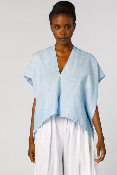 Miranda Bennett In-Stock: Ed. VIII Everyday Top - Linen in Light Indigo