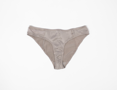 KENT BAM Organic Silk Bikini Brief - Cool Grey