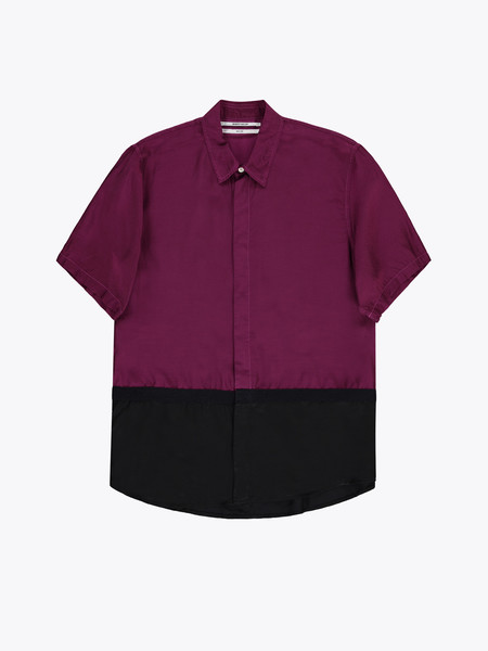 Robert Geller The Two-Toned Taped SS Shirt