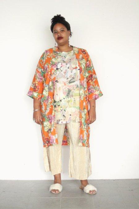 Strathcona Fire Bouquet Silk Kimono Robe