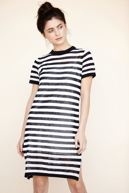 Callahan Stripe Crewneck Dress