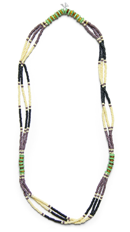FORTUNE GOODS MONTAGNARD BEAD NECKLACE IN PLUM / NAVY / JADE