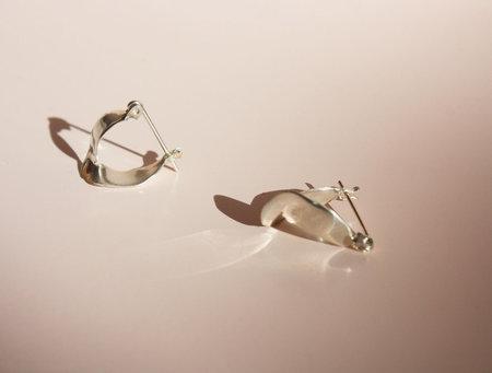 Odette New York Wishbone Earrings in Recycled Sterling Silver