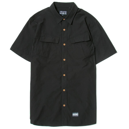 ACAPULCO GOLD MILITARY S/S FIELD SHIRT - BLACK