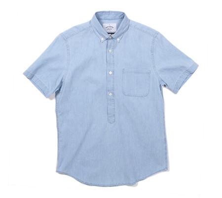 Portuguese Flannel Caué Popover Denim Short Sleeve Shirt