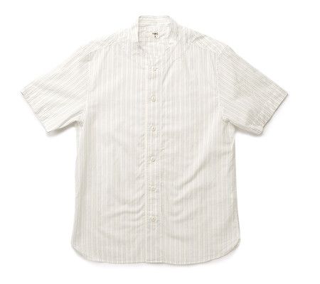 Men's YMC Double Stripe Baseball Shirt | Cream