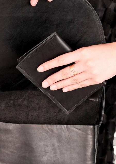 Evens Black Passport Wallet