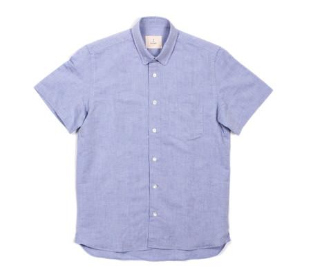 La Paz Ribeiro Short-Sleeve Shirt | Blue