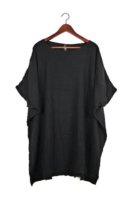 Uzi NYC Black Gauze Box Dress