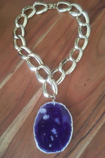 Amelie Repurposed Purple Passion Necklace